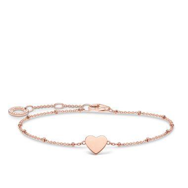 THOMAS SABO BRACELET HEART WITH DOTS ROSE GOLD