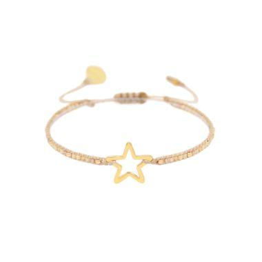 MISHKY MELTED STAR BEADED BRACELET