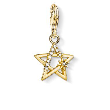 THOMAS SABO CHARM PENDANT STAR STONES GOLD