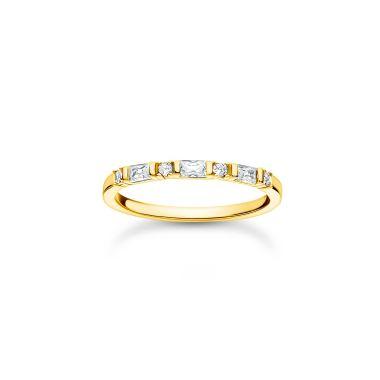 THOMAS SABO RING WHITE STONES GOLD
