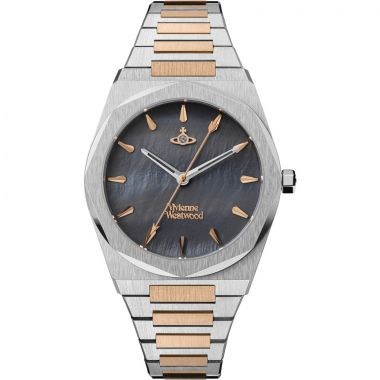 VIVIENNE WESTWOOD LADIES LIMEHOUSE ROSE GOLD TWO TONE WATCH