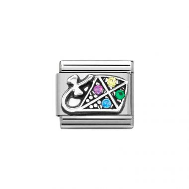 NOMINATION CLASSIC COMPOSABLE MULTICOLOURED CZ KITE LINK