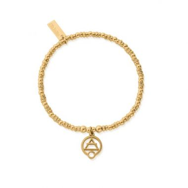 CHLOBO GOLD SPARKLE DISC AIR BRACELET