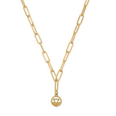 CHLOBO GOLD LINK CHAIN WATER NECKLACE