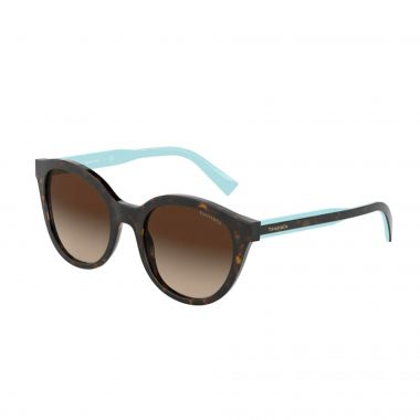TIFFANY & CO. HAVANA AND BROWN GRADIENT LENS SUNGLASSES
