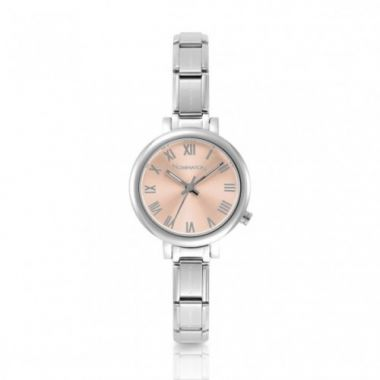 NOMINATION CLASSIC COMPOSABLE PARIS WATCH WITH PINK DIAL