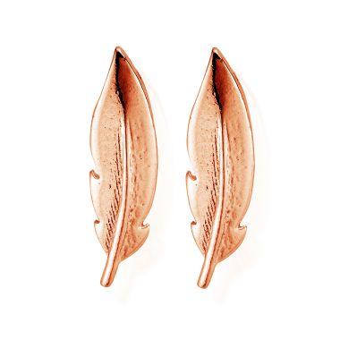 CHLOBO ROSE FEATHER CUFF STUD EARRINGS