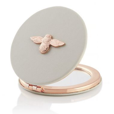 OLIVIA BURTON 3D BEE MIRROR GREY AND ROSE GOLD