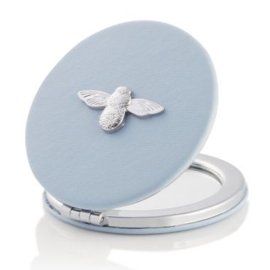OLIVIA BURTON 3D BEE MIRROR CHALK BLUE AND SILVER