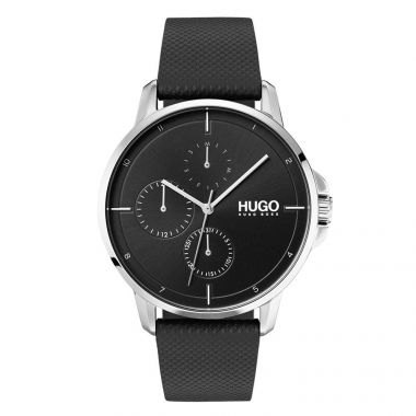 HUGO BY HUGO BOSS #FOCUS GENT'S STAINLESS STEEL CASE WATCH