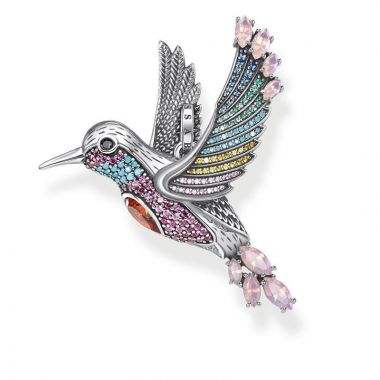 THOMAS SABO PENDANT COLOURFUL HUMMINGBIRD SILVER