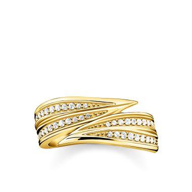 THOMAS SABO RING LEAVES GOLD